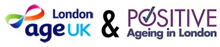 Age UK London and Positive Ageing London logos