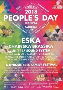 poster advertising Lewisham People's Day 7 July 2018