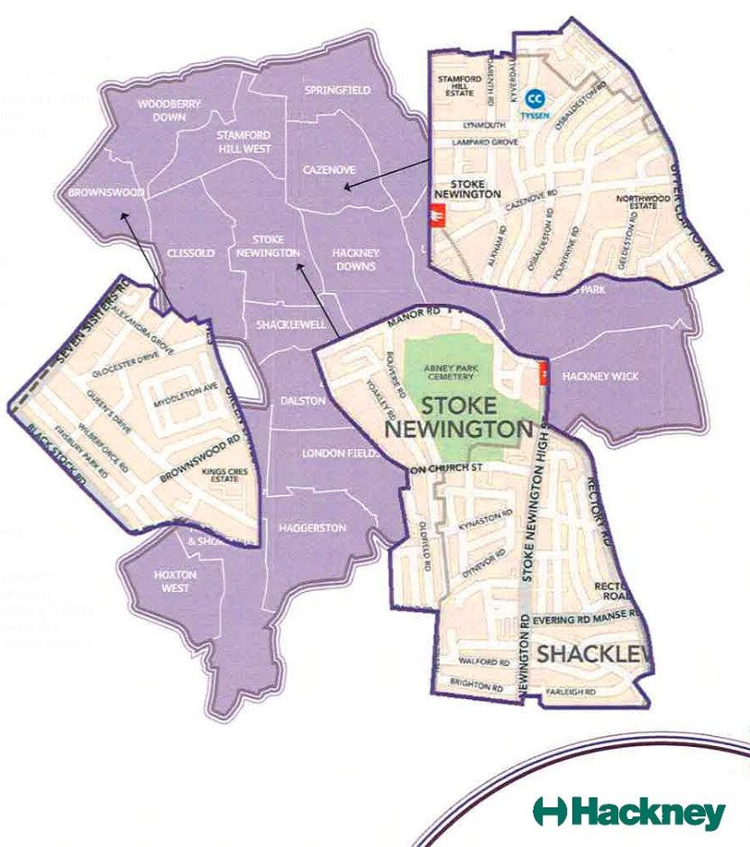 Hackney 2018 licensing scheme map of designated area